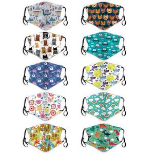 Kinder Gesicht staub- househould Schutzbaumwollwiederverwendbare Waschbar Fashion Design Kinder Masken MK52 zufällige Druck Kind Mundmaske Maske
