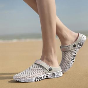 Original New Garden Flip Flops Water Shoes Men Holes Summer Beach Aqua Slipper Outdoor Sandal Gardening Shoes Big Plus Size 40