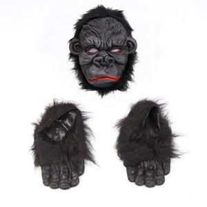 Orangutan maschera di Halloween spaventoso Ape mascherina di orrore del silicone di Cosplay Orangutan Orangutan Maschera Costume Party piede di alimentazione