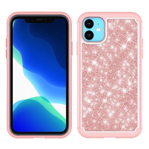 Glitter Bling Cute Girls Femmes antichocs Full Body de protection de téléphone portable Couverture Slim pour iPhone 11 Pro Max