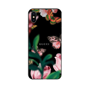 Cas de téléphone de luxe Guoi pour IphoneXSMAX XR XS 7Plus / 8Plus 7/8 6s / 6sp 6 / 6s Designer de protection de la mode d'impression de marque arrière 10 styles