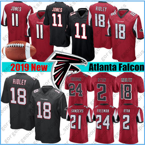 11 Julio Jones Atlanta jerseys Falcon 2 Matt Ryan Jersey 21 Deion Sanders 18 Ridley 24 Devonta Freeman Jersey cosida caliente
