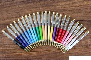 Dhl فارغة بلينغ بلينغ 2-in-1 سليم كريستال الماس قلم أقلام بريق ستايلس لمس القلم diy الأقلام 13 اللون