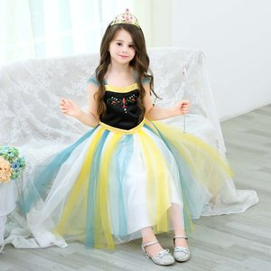 Hallowmas Girls Dress Elegant Princess Dress baby Dresses Girls Costume Party Gown Carnival Children Clothing 2-12 year kids clothes D60
