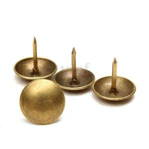 Copper 400-set Pins Thumb Tacks Push Pins Office Supplies Thumbtack 10x10mm