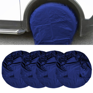 4Pcs set Car Spare Tire Cover Case Polyester Auto Wheel Tires Storage Bags Vehicle Tyre Accessories Dust-proof Protector