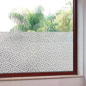 Fosco de privacidade Quarto de banho Glass Window Film Adesivo Decalque -Chrysanthemum