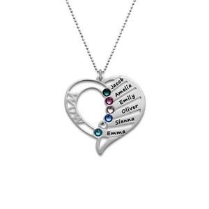 حار بيع شخصية الأسرة الحب قلادة قلادة 925 فضة جوهرة القلائد ل الجدة الفضة والمجوهرات المخصصة