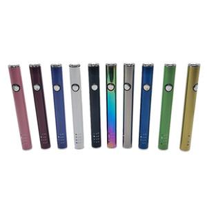 MAX II Pil 450 mAh 4 Seviye Değişken Gerilim Vape Kalem Pil 510 Konu Alt USB Şarj ile 10 Renk