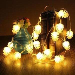Decoraciones de Navidad blanco cálido cadena cono de piña de pino luz de la decoración de año nuevo XD22739 de Navidad decoraciones para el hogar de la moda