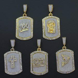 5 Styles 24inch Stainless Steel Box Chain Small Gold-Color Hip Hop Mini 100 Jesus Cross Pendant Necklace