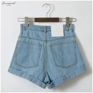 Taille haute Denim Shorts pour femmes Shorts Sexy Marque Jeans Denim Shorts Feminino Mid Slim Hip Taille Plus C3627