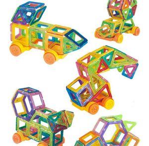 Кирпичи 58pcs Строительные блоки Наборы Магнитные игрушки Детские блоки Creator Набор цветов радуги Магнит Блок игрушки для детей Рождественский подарок