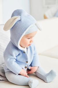 2019 nouveau-né tout-petits enfants bébé fille Vêtements bébé garçon Tricoté Pull à capuche oreilles de lapin Manteau Outerwears 0-24
