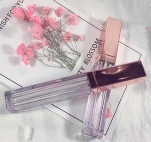 4ml lip gloss bottiglia con tappo in oro rosa, tubo lipgloss vuoto, contenitore di imballaggio lipgloss fai da te di alta qualità trasporto veloce