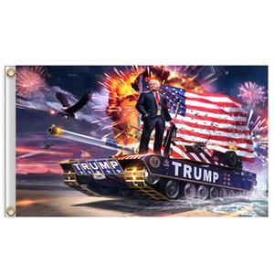 90 * 150cm Trump Drapeau réservoir Keep America Great Flags Trump Banner Flag 2020 président de la campagne de soutien Trump Bannière Drapeaux A03