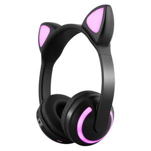 bluetooth headset Cartoon cute cool Cat ear EL lighting bluetooth stereo headphone wireless headphone,various colors for choices