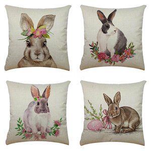 Fashion European Ins Plush Sofa Cushions Beach Wool Velvet Rabbit Pillowcases Sofa Car Seat Soft Rabbit Pillow Case Cushion Er Home Decor#778