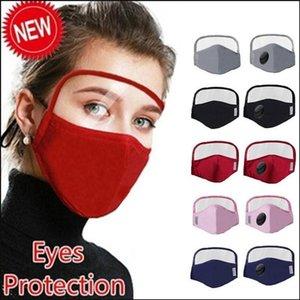 New Designer Expédition rapide Coton Masque visage avec des yeux 2 Washable Shield couches coton Facemask avec un masque de protection FY9078 fente Personnes