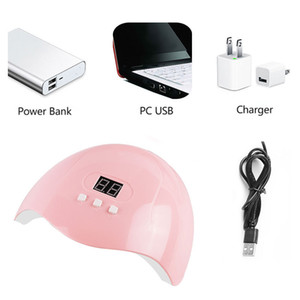 Professional UV Gel Nail Lamp LED Light Nails Dryer Polish Curing 3 Timers Nail Lamp For Manicure 54W Dryer 54W