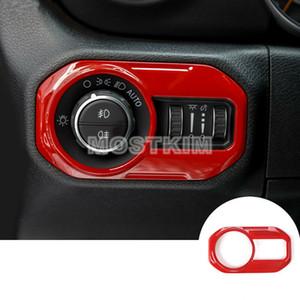 Красная внутренняя кнопка включения фары для Jeep Wrangler JL 2018-2019