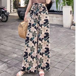 Pottis Real Shot Of 2018 New Holiday Thaïlande Pantalon Big Yards Bohême Pantalon Large Jambes De Mode Pantalon De Plage Y19071601