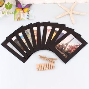 Mrosaa 10PCS 5 بوصة DIY جدار صور إطار الصورة المعلقة صور الديكور الحديثة إطارات ورقة المختلط مع حبل كليب