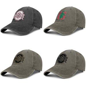 Ohio State Buckeyes calcio logo berretto da baseball nero denim unisex personalizzato progettare i propri cappelli eleganti squadra bianca