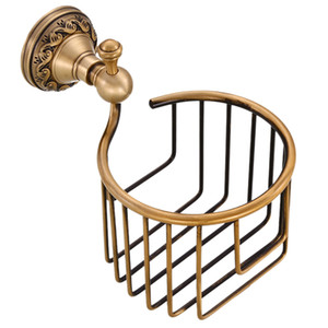 Wall Mounted Toilet Paper Holder Antique Finishing Roll Toilet Paper Roll Holder Apply Kitchen Bath Restaurant
