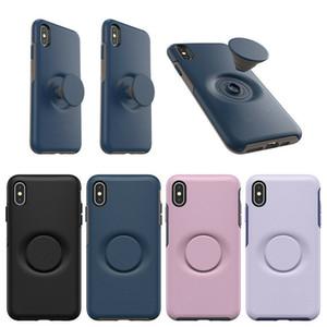 Pop caso capa Mobile Phone protetora para Apple iPhone X Xs max XR para o iPhone 11 Pro Max escaláveis Air Bag aperto Titular Casos suporte de celulares