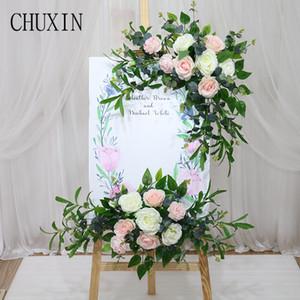 Wedding recepción de la flor tarjeta de agua tarjeta de sala de exposiciones de cumpleaños decoración de la pared puerta de la casa arco corona de flores artificia plomo carretera