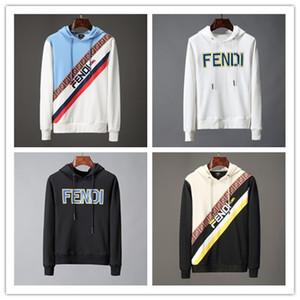 Nuevo comercio exterior de lujo Diseñador de los hombres de manga larga con capucha marea marca de impresión suéter hombres mujeres marca bordado Medusa sudaderas