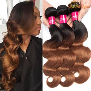 Gagaqueen 100% человеческих волос Ombre Бразильские пучки волос на объемной волне 8А 1B / 30 Бразильские объемные волны Наращивание волос девственницы