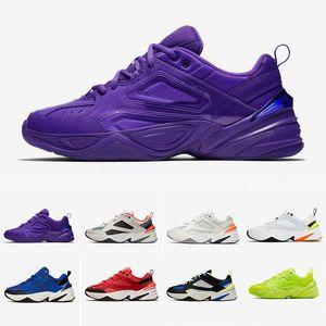 2019 Nike M2k Tekno Hombres mujeres Zapatos casuales Colores de caramelo Hyper Grape Designer Zapatos viejos Zapatillas de deporte Zapatillas de deporte para hombre 36-45