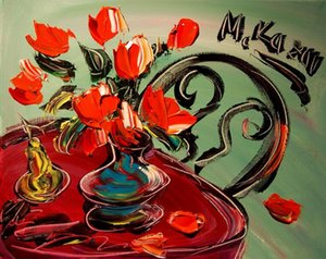 a107# MARK KAZAV FLOWERS RUSSIAN Home Decor Handcrafts  HD Print Oil Painting On Canvas Wall Art Canvas Pictures 200201