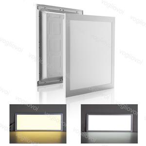 Luz del panel LED 20W 32W 35W 48W 300x300 300x600 600x600mm Lámparas de techo interior SMD2835 220V Emisión de superficie de aluminio para la clase de oficina DHL