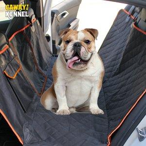 Günstige Dog Carriers Hundeauto Ansicht Mesh-Wasserdichtes Haustier-Träger-Auto-hintere Reihe Rücksitzkissen Hängematte mit Reißverschluss und Taschen atmungsaktiv
