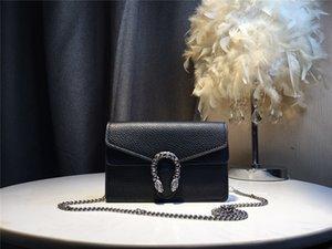 GG de las mujeres de alta calidad de la marca de lujo del cuero del bolso del bolso del morral del hombro del totalizador del bolso del monedero de la cartera diseñadores mochila genuino 2020 18cm