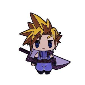 Final Fantasy 7 Drag Bulut Yaka Pin Oyunu Tutkunları Harika Koleksiyonu