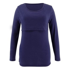 2020 Women Pregnant Maternity Nursing Clothes O-neck Long Sleeve Tops Solid T-shirt Tops 2019 Pregnancy Maternity Clothing