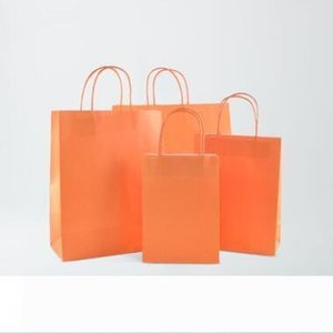 Kraft Paper packing Bag Festival Gift Bags With Handles Wedding candy color Paper Bag for shopping High Quality Packing Bags LXL698-1L