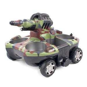Garçon jouet RC réservoir électrique à propulsion jouet réservoir télécommande jouet RC voiture tir cible cible jet d'eau jet jouer dans la terre de l'eau