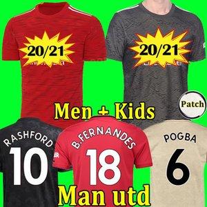 2020 2021 FC manchester RASHFORD B. FERNANDES POGBA soccer jerseys MARTIAL football jersey shirts united UTD 20 21 uniforms man + kids kit