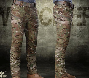 Hiking Pant Cotton Durable Windproof Pockets Camouflage Pants Mens Tactical Cargo Trousers for Hunting CS war game