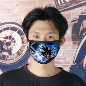 Freies DHL-Verschiffen Dbs Broly 0620 waschbare Gesichtsmaske Wiederverwendbare Facemasks für Damen Ice Silk Doppel Maske Masque Tissu Tapabocas Cubreboca YbwS