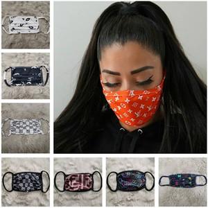 Máscara Facial Designer Luxo Máscara Anti Poeira Ultraviolet à prova de boca-de mufla mulheres enfrentam Máscaras Protector lavável face Sports 12 cores
