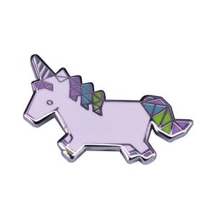 Bella Origami Unicorno carino spilla color pastello arte presso Zaino Giacca