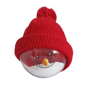 Cute Cartoon Snowman Christmas Ball Pretty Toys Christmas Decorations Toy Gift for Children Crystal Ball Hanging Ornament