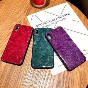 iPhone Luxury Gold Leaf telefone capa para 11 Pro Max XS Max XR X 6 s 8 7 Plus Único Rachado Epoxy telefone tampa traseira Glitter Soft Shell Silicon