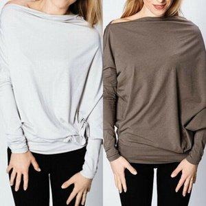 Femme élégante Casual lâche manches Batwing Pull Tunique Tops T-shirt